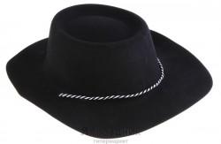 Карнавал шляпа большие поля черная