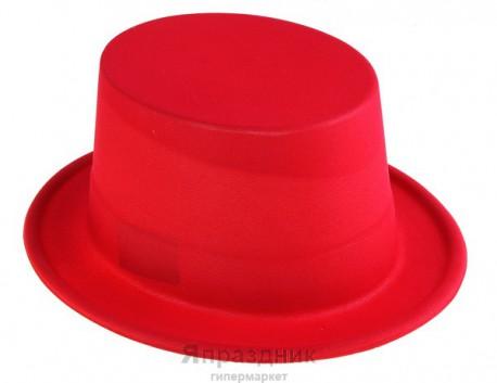 Шляпа цилиндр красная