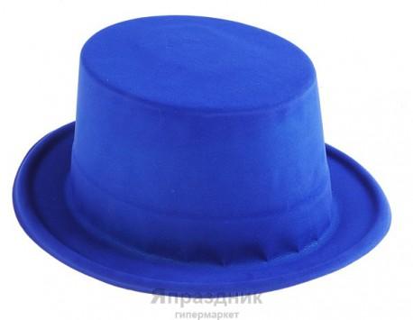 Шляпа цилиндр синяя