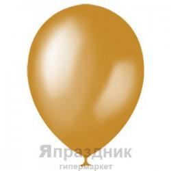 "M 12""/30см Металлик GOLD 025 100шт шар латекс"
