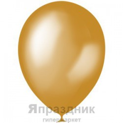 "M 9""/23см Металлик GOLD 025 100шт шар латекс"