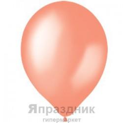 "M 14""/35см Премиум Перламутр SALMON PEACH 074 50шт шар латекс"