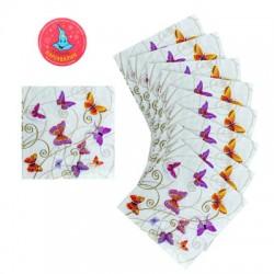 салфетки бумажные (набор 20 шт) 33*33 см Порхание бабочек 670595