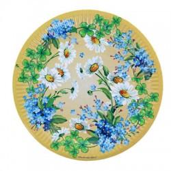 """Тарелка с ламинацией """"Полевые цветы"""", 23 см 8шт 1130782"""