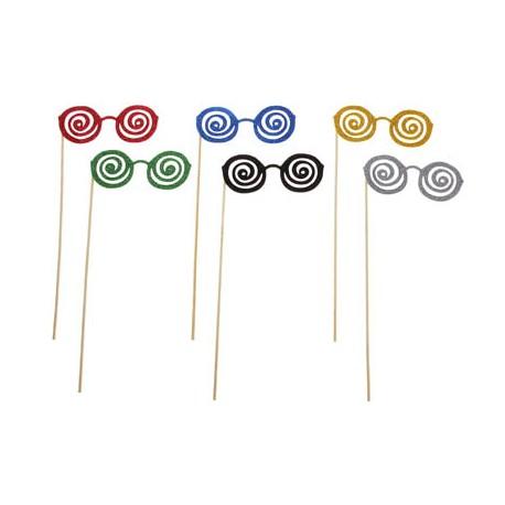 """Аксессуары для фотосессии на палочке очки """"Гипноз"""", цвета МИКС 301822"""