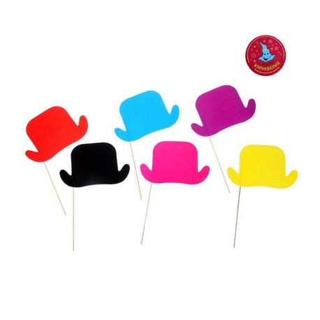 Аксессуары для фотосессии Шляпка разноцветные 6шт