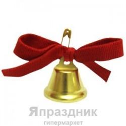 FC Колокольчик для выпускника с красным бантом и булавкой D 25 мм 10шт/уп
