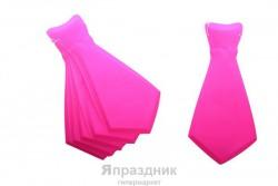 Карнавал галстук розовый пластик (набор 6 шт) один цвет