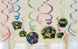 Спираль Черепашки-Ниндзя 46-60см 12шт