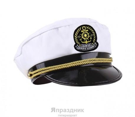 """Шляпа капитана """"Капитан дальнего плавания"""" цвет белый 302372"""