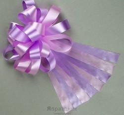 Бант-шар №3 двухцветный светло-сиреневый/светло-розовый