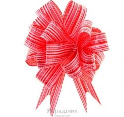 Бант-шар №1,8 тонкие полосы, красный