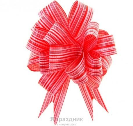 Бант-шар №1,8 тонкие полосы, красный 894779