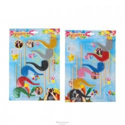 """Аксессуары для фотосессиии на палочке """"Гламурная трубка"""" (набор 6 шт), цвета МИКС 321036"""