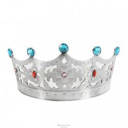 """Корона с камнями """"Царевна"""" серебро 1089306"""