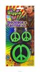 """Карнавальный набор 2 предмета: серьги, колье """"Мир"""", цветные 331710"""