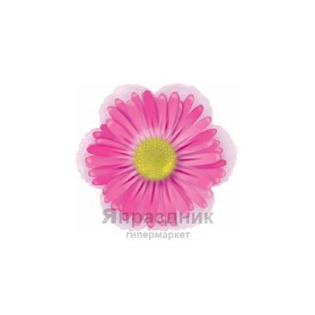 Шар (14'/36 см) Мини-фигура, Маргаритка, Розовый, шт.