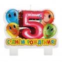 Свеча для торта С днем рождения 5 лет