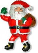 Шар фигура Дед мороз с подарками 84 см