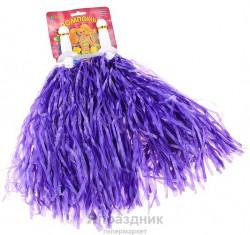 Карнавал помпон мини 30 гр фиолетовый (набор 2 шт)