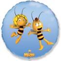 Шар голубой Круг Летящая пчела Майя 48см