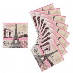 """Салфетки бумажные """"Достопримечательности Парижа"""" (набор 20 шт) 1108244"""