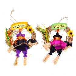 """Венок баба яга """"Welcome"""", цвета МИКС 1024412"""