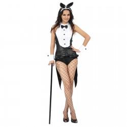 """Карнавальный костюм """"Прелестница"""", 3 предмета: манжеты, ободок, одежда (полу рубашка), размер M-L 44"""