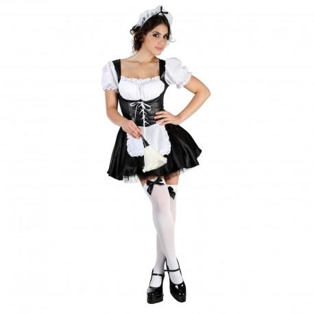 """Карнавальный костюм для взрослых""""Горничная"""",платье, нижняя юбка, повязка на голову. М-L 44-48 326325"""