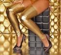 Золотые длинные гетры