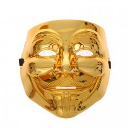"""Карнавальная маска пластик""""Гайфокс"""", цвет золото 1146059"""