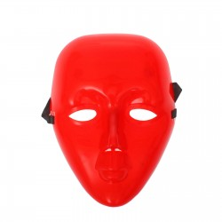 """Карнавальная маска пластик """"Лицо"""", цвет красный 1146058"""