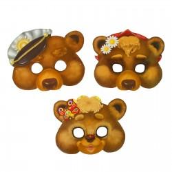 """Набор карнавальных масок, """"Три медведя"""", 3 шт, 23,7 х 19,5 см 1126572"""