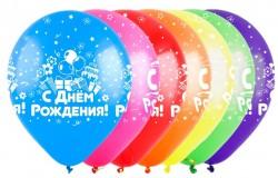 Т 12 С Днем рождения, Микс (3 дизайна), Ассорти Пастель, 5 ст. / 100 шт. / (Турция)