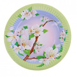 """Тарелка с ламинацией """"Яблоня"""", 18 см 8 шт 1073217"""