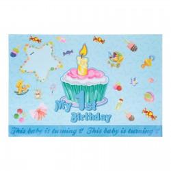 """Плакат с поздравлениями """"Первый день рождения!"""" мальчик 335451"""