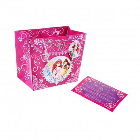 "Пакет-сумка""Маленькая модница""Принцессы, 23 х18 см 1126219"