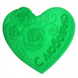 "Форма для выпечки ""С любовью"", зеленый, 25 х 7 см 1032210"