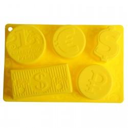 """Форма для выпечки """"Счастливый рубль"""", желтый, 27 х 17,5 см 1032230"""