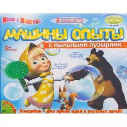 """Набор для опытов """"Машины опыты с мыльными пузырями"""" Маша и Медведь ВВ1024 875665"""