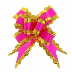 Бант-бабочка №3 резной, малиновый 817294
