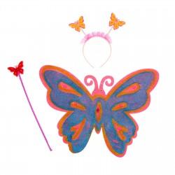 """Карнавальный набор """"Бабочка"""" 3 предмета: крылья, ободок, жезл 1116439"""