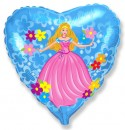 Шар Сердце Принцесса 48см