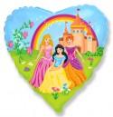 Шар Сердце Замок принцессы 48см