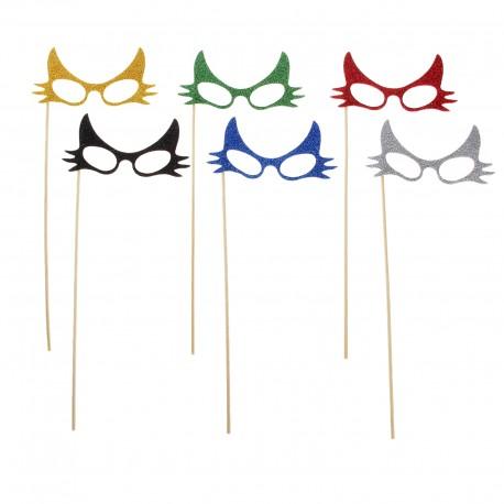 """Аксессуары для фотосессии на палочке очки """"Незнакомка"""", цвета МИКС 301829"""