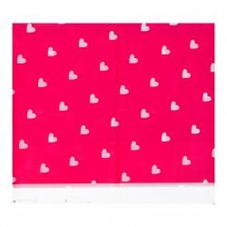 """Скатерть 105*180 """"Сердечки"""" розовый цвет 1152005"""