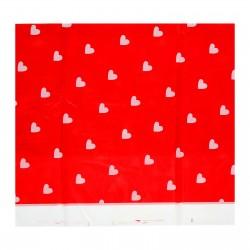 """Скатерть 105*180 """"Сердечки"""" красный цвет 1152004"""