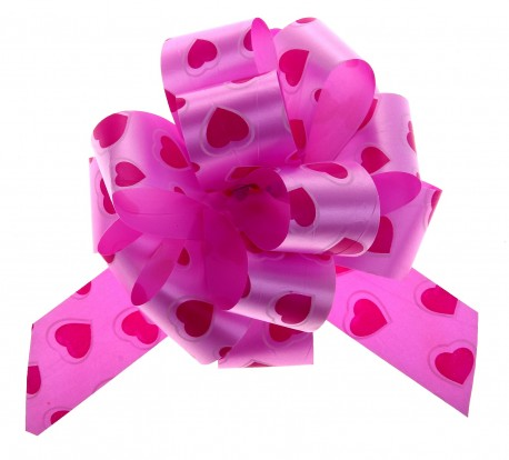 Бант-шар №3 рисунок сердца на розовом 817825