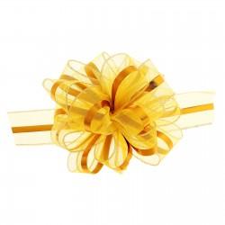 Бант-шар №6 органза золотая полоса, жёлтый 813656