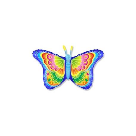 Шар (32'/81 см) Фигура, Бабочка кокетка, Синий, 1 шт.